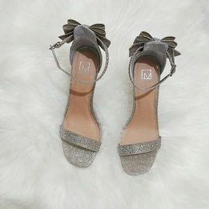Shoes - Silver rhinestone heel